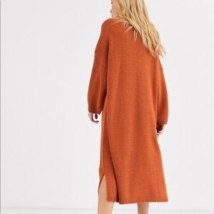 ASOS rust midi sweater dress NEW